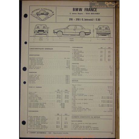 bmw 316 318 i l jetronic e30 fiche technique plan de graissage
