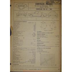 Chrysler 160 Gt 180 Fiche Technique