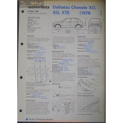 Daihatsu Charade Xo Xg Xte Techni 1982