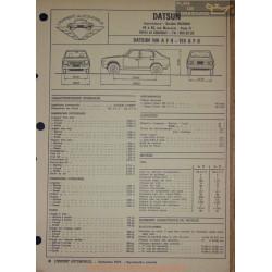 Datsun 100 A F Ii 120 Fiche Technique