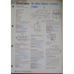 Mini Bl Metro 1000 Hle Techni 1981