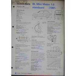 Mini Bl Metro 1000 Standaard Techni 1981
