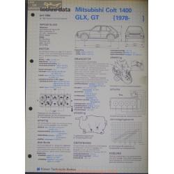 Mitsubishi Colt 1400 Glx Gt Techni 1982