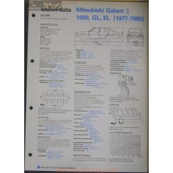 Mitsubishi Galant 1600 Gl El Techni 1981