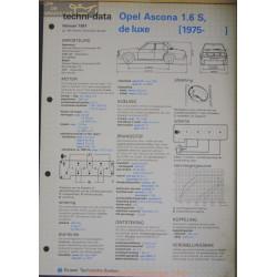 Opel Asconna 1600 S De Luxe Techni 1981