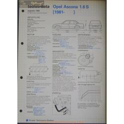 Opel Asconna 1600 S Techni 1982