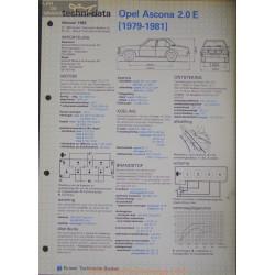 Opel Asconna 2000 E Techni 1982