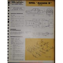 Opel Asconna B Berline Carrosserie