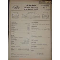 Panhard Pl 17 Fiche Technique