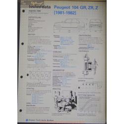 Peugeot 104 Gr Zr Z Techni 1983