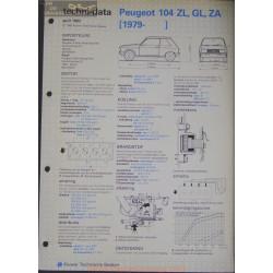 Peugeot 104 Zl Gl Za Techni 1983