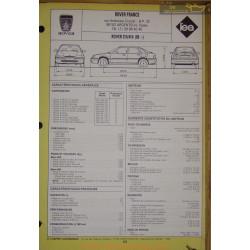 Rover 214 414 1989 Fiche Technique