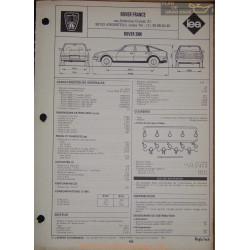 Rover 3500 Fiche Technique