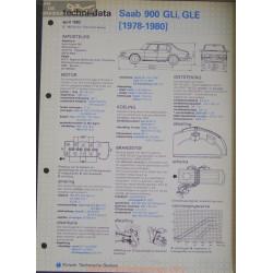 Saab 900 Gli Gle Techni 1982