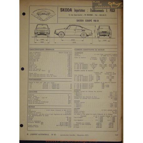 Skoda Coupe 110 R Fiche Technique