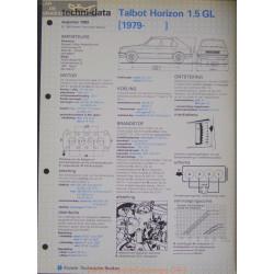 Talbot Horizon 1500 Gl Techni 1983