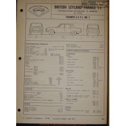 Triumph 2500 Pi Mk 2 Fiche Technique