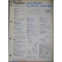 Volvo 242 244 Gl Gle Gt Techni 1984