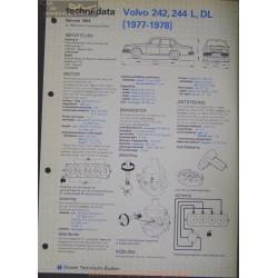 Volvo 242 244 L Dl Techni 1984 Bis