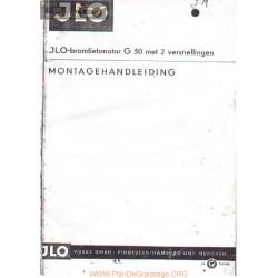 Cyclo Jlo G50 Manuel Montage