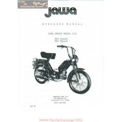 Jawa 210 Anglais 1988