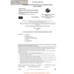 Jawa 210 Manuel Instruction