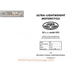 Jawa 50cc 555 1958 Specification