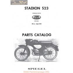Jawa 50cc S23 552 Engine Parts List