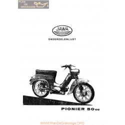 Jawa 555 Pioner 1958 Allemand Spare Parts List