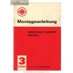 Kreidler 3 Vitesses 1964 Manuel De Montage