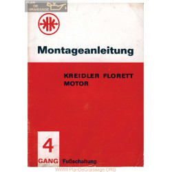 Kreidler 4 Vitesses 1966 Manuel De Montage
