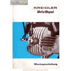 Kreidler Mofa Moped Mf4 Mp1 Monovitesse Manuel 1972