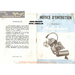 Motobloc Moteur Notice Entretien