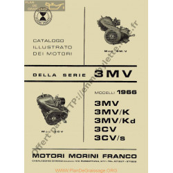 Motori Franco 3v 1966 Fili Catalogue Illustration