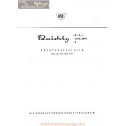 Nsu N S L Quickly Cavalino T 10 1959 Allemand Part Liste