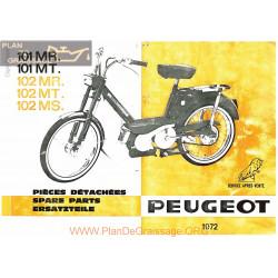 Peugeot 101 102 Mr Ms Mt Pieces Detachees 1972