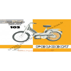 Peugeot 103 Pieces Detachees 1973