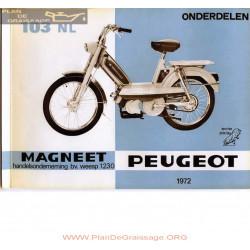 Peugeot 103nl Fr Nl Pieces Detachees 1972