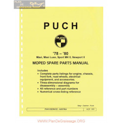 Puch Maxi Spare Part 1978 1980 Engl