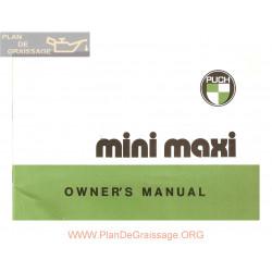 Puch Mini Maxi Manuel Utilisateur Engl