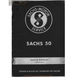Sachs 50 Series Workshop Manual