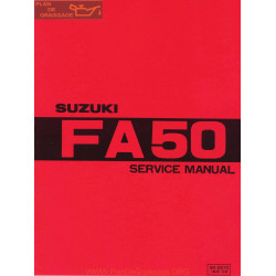 Suzuki Fa50 Service Manual 1980 Engl