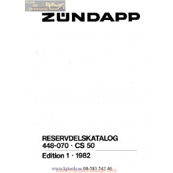 Zundapp Cs50 Service Catalogue 1982
