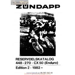 Zundapp Cx50 448 270 Enduro Manuel 1982