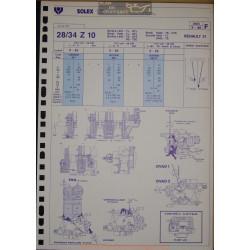Solex 28 34 Z 10 3683 1986 Renault 21