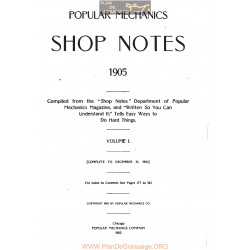 Shop Notes 1905 Popular Mechanics Volume1 1905