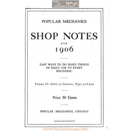 Shop Notes 1906 Popular Mechanics Volume2 1906