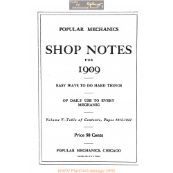 Shop Notes 1909 Popular Mechanics Volume5 1909