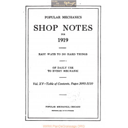 Shop Notes 1919 Popular Mechanics Volume15 1919