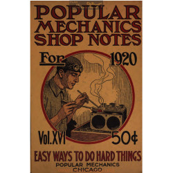 Shop Notes 1920 Popular Mechanics Volume16 1920